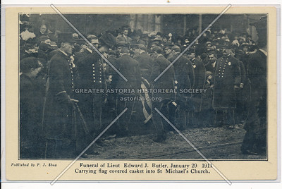 Funeral of Lieut Edward J. Butler, January 29, 1911, NYC