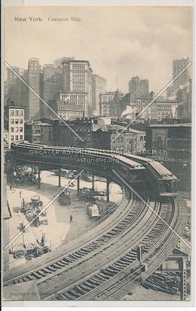 Coenties Slip, New York (black & white)
