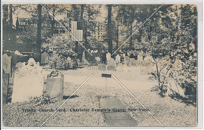 Trinity Church Yard, Charlotte Temple Grave, New York (black & white)