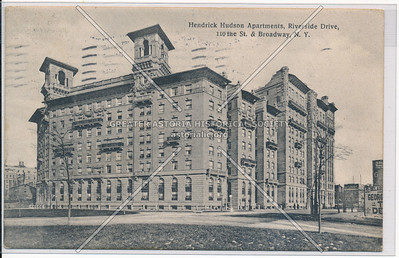 Hendrick Hudson Apts., Riverside Drive & 110th St., New York (B&W)