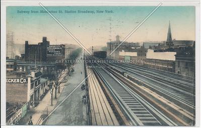 Subway from Manhattan St. (125 St) Station Broadway, New York