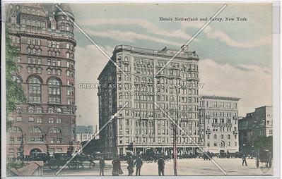 Hotels Netherland and Savoy, New York