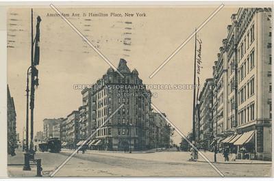 Amsterdam Ave & Hamilton Place, New York (black & white)