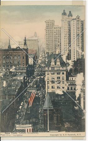 New York. Lower Broadway