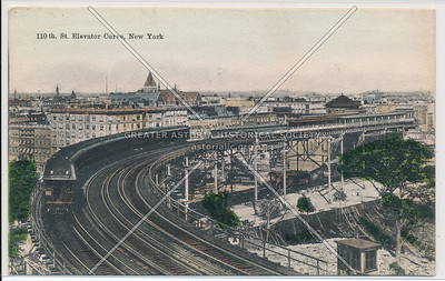110th St. Elevated Curve, New York