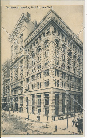 The Bank of America, Wall St., New York (black & white)