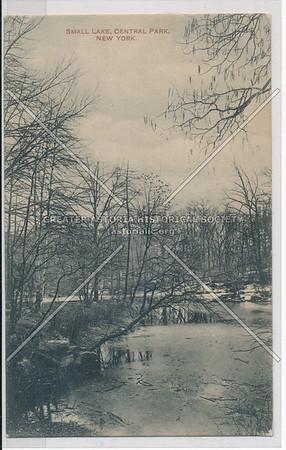 Small Lake, Central Park, New York (black & white)