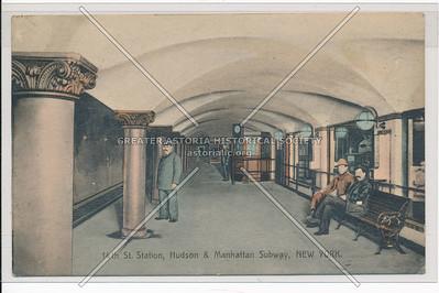 14th St. Station, Hudson & Manhattan Subway, New York