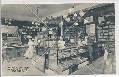 Baltzley's Pharmacy, Broadway and 96th Street, NY (B&W)