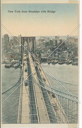 New York from Brooklyn with Bridge