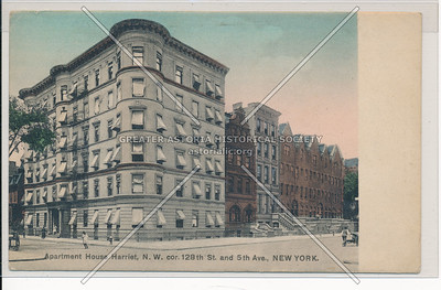 Apartment House Harriet, N.W. cor 128th and 5th Ave., New York