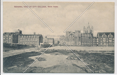 General View of City College, New York (black & white)