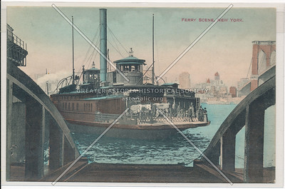 Ferry Scene, New York