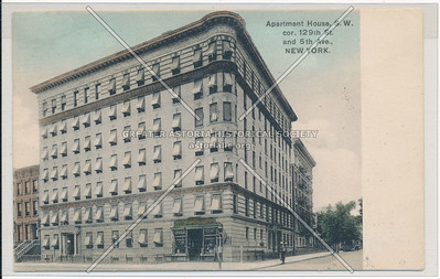 Apartment Houses, N.E. cor 129th and 5th Ave., New York