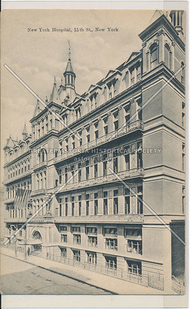 New York Hospital, 15th St., New York (black & white)