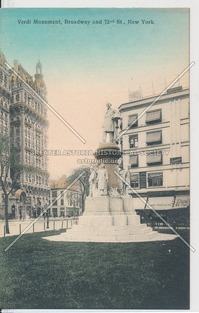 Verdi Monument, Broadway and 72nd St, New York