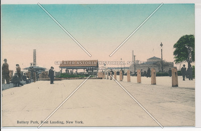 Battery Park, Boat Landing, New York