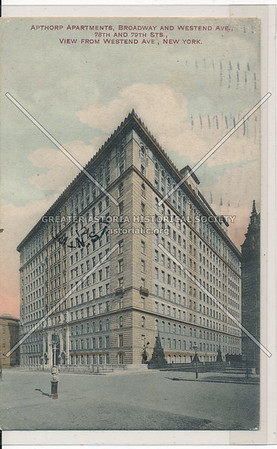 Apthorp Apartments, Broadway and Westend Ave., 78th to 79th Sts., View from Westend Ave, New York