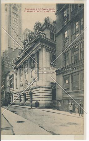 Chambers of Commerce, Liberty Street, New York (black & white)
