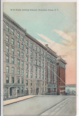 99th Street, looking towards Riverside Drive, N.Y.