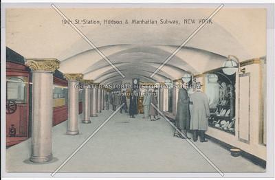 19th St. Station, Hudson & Manhattan Subway, New York