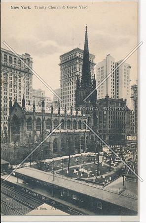 New York. Trinity Church & Grave Yard