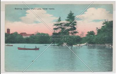 Boating, Central Park Lake, New York