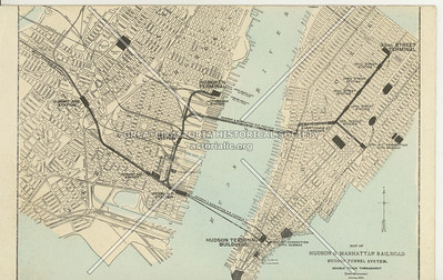 Map of Hudson & Manhattan R.R. N.Y.