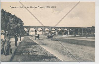 Harlem River Speedway, High Bridge, New York (B&W)