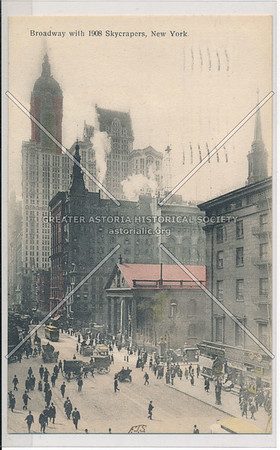 Broadway with 1908 Skyscrapers, New York