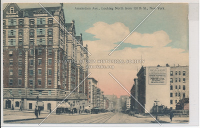 Amsterdam Ave., N from 120th St., NY