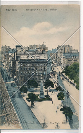 New York, Broadway and 5th Ave. Junction