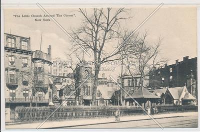 """The Little Church Around The Corner"", New York (black & white)"