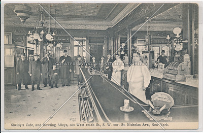 Sheidy's Café, and Bowling Alleys, 350 West 125th St., S.W. cor. St. Nicholas Ave., New York