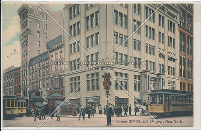 Corner of 23rd St. and 4th Ave., New York