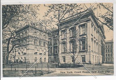 New York, Court House, New York City (black & white)