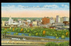 SKYLINE VIEW of YOUNGSTOWN OHIO linen<br /> 330293048_dHx9Y