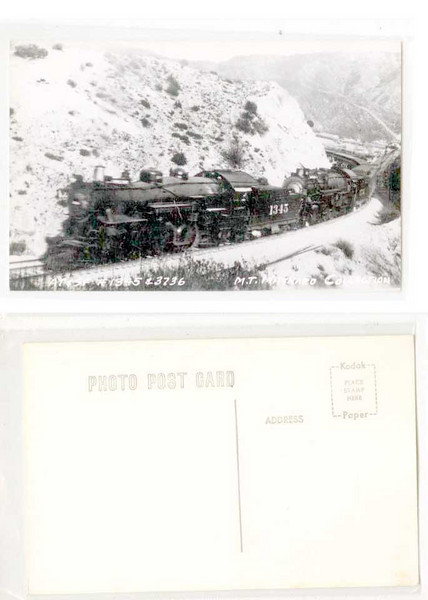 AT&SF #1345 doubleheader steam loco RPPC<br /> 373409786_gzqDt