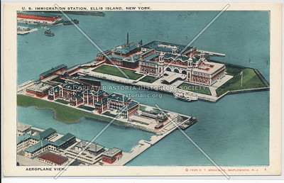 Ellis Island Airplane View