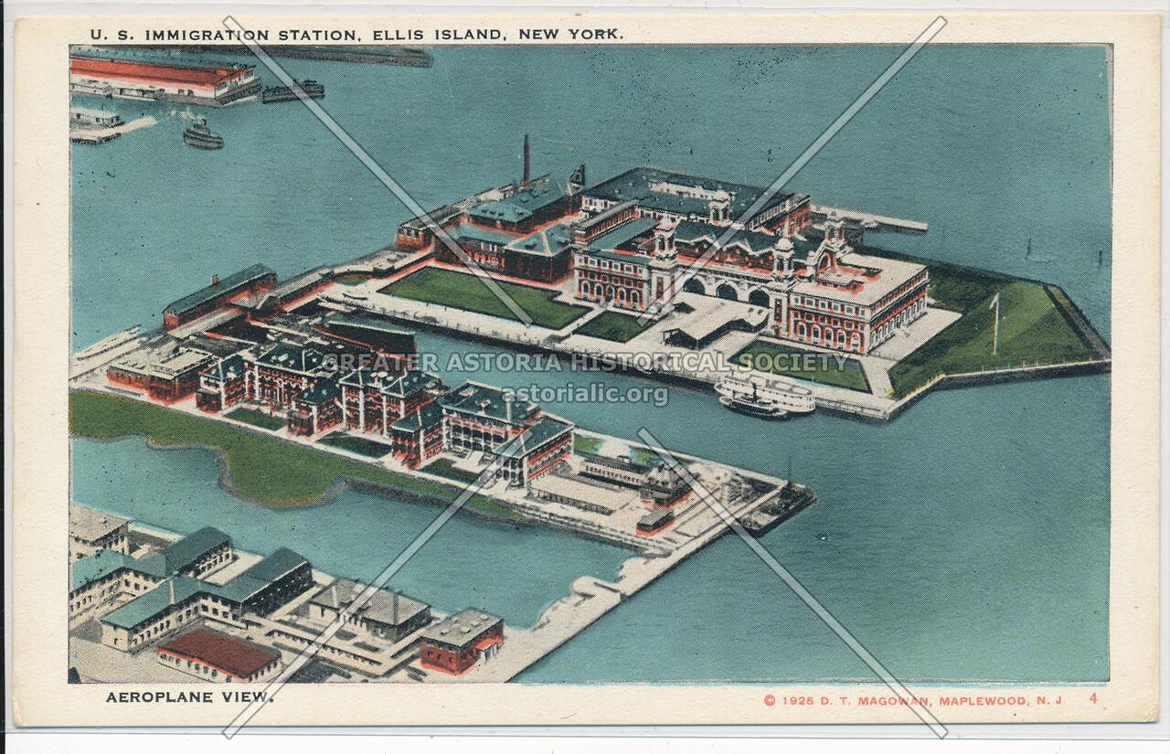 Ellis Island Airplane View