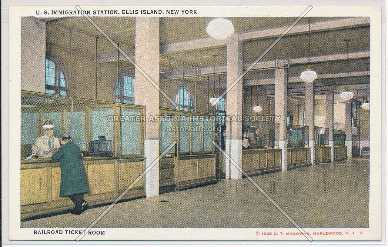 Ellis Island Railroad Ticket Room