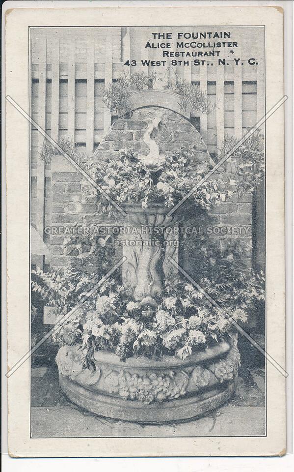The Fountain, Alice McCollister Restaurant, 43 8 St, NYC