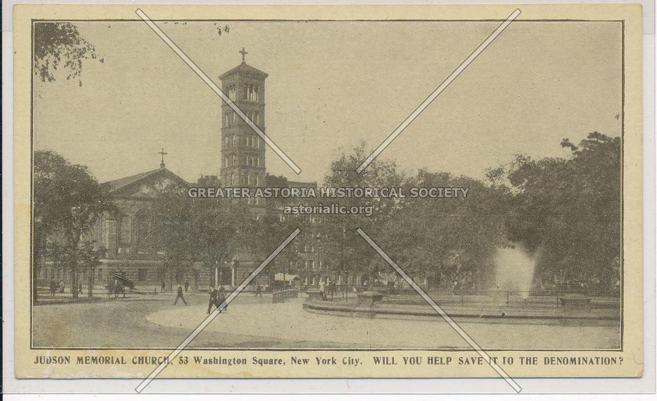 Judson Church, Washington Sq So, NYC