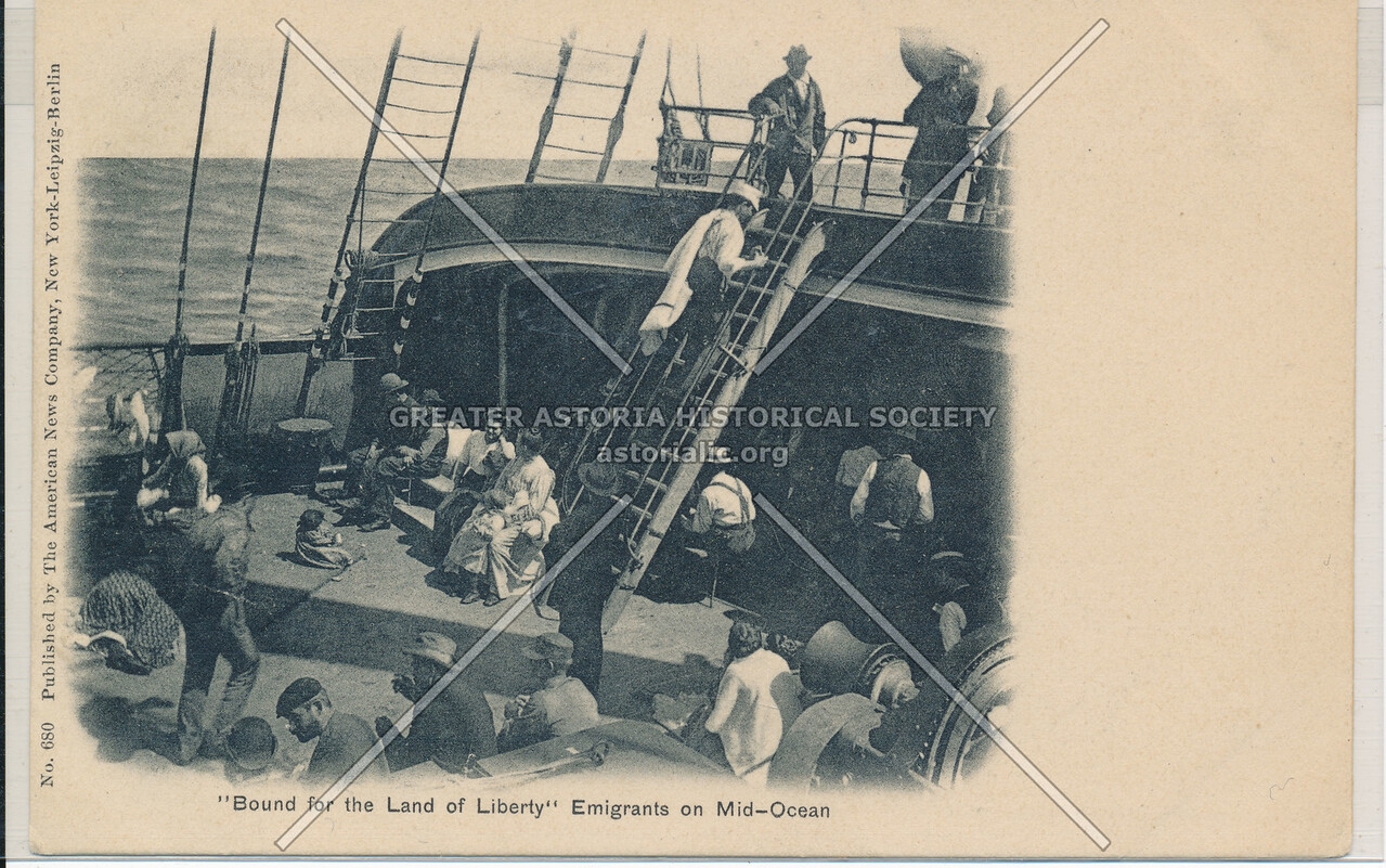 Immigrants in Mid Ocean