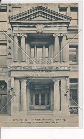 Entrance NYU Building, Washington Sq, NYC