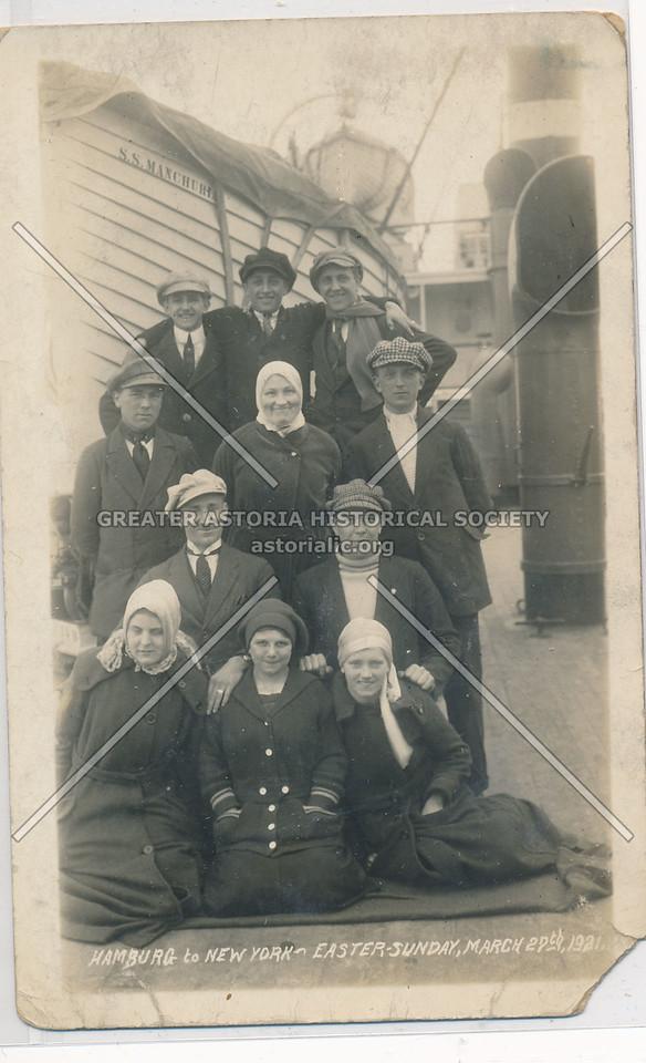 Hamberg to NYC Immigrants Easter Sunday 1921