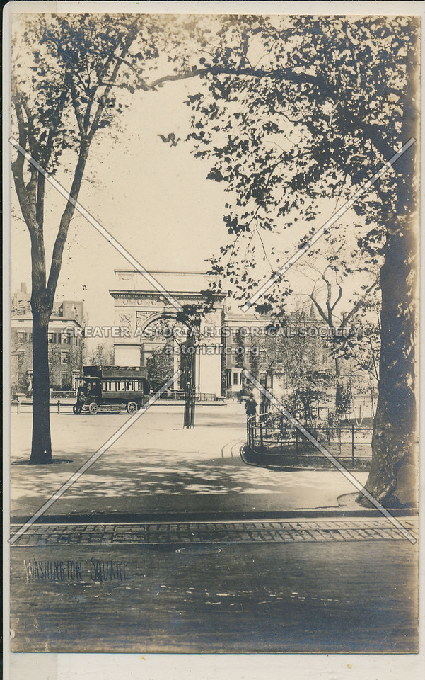 Washington Sq, Greenwich Village - Jessie Tarbox Beals