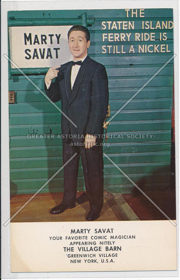 Marty Savat, The Village Barn, 52 W 8 St, NYC