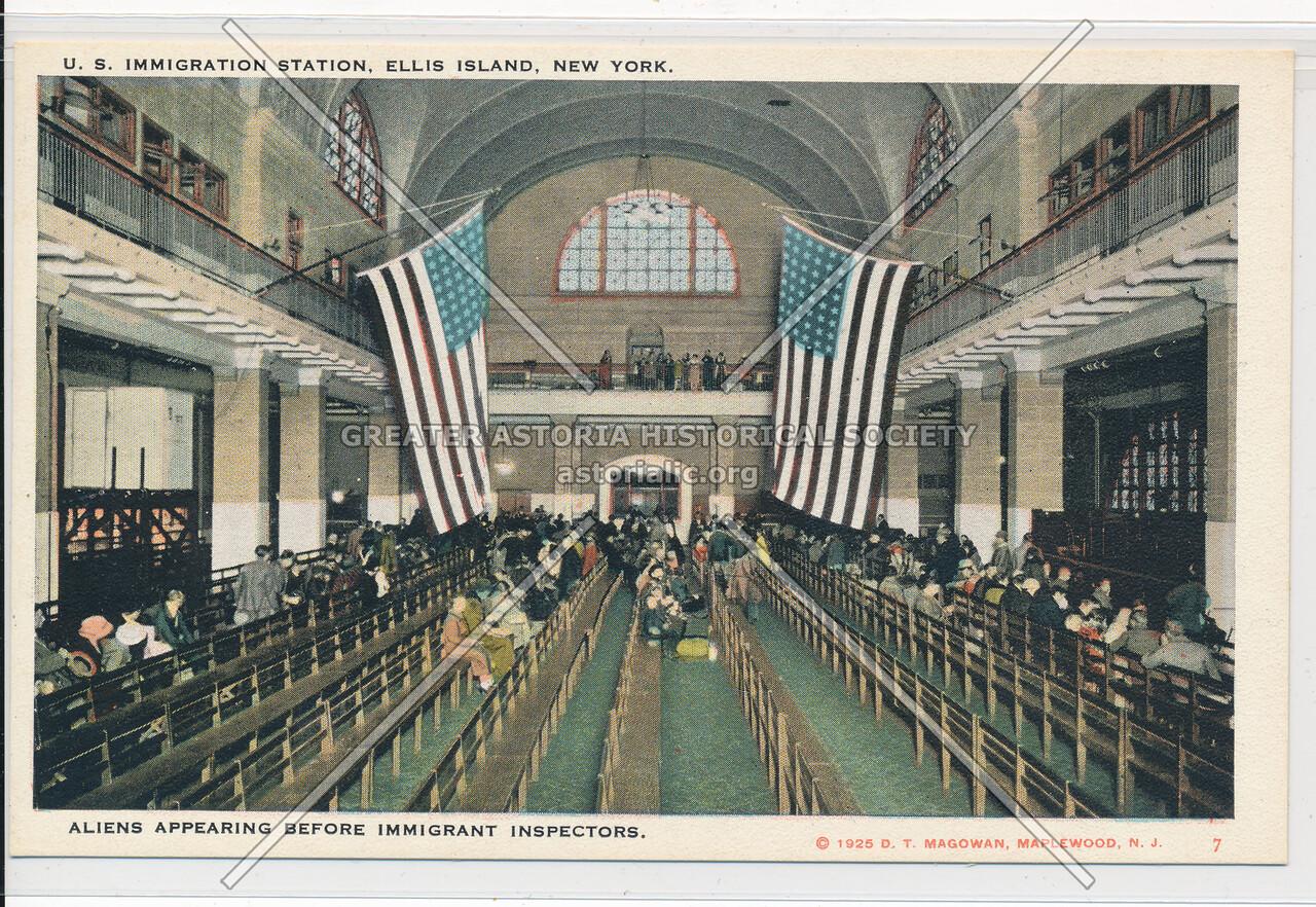 Ellis Island Aliens Appearing Before Immigrant Inspectors