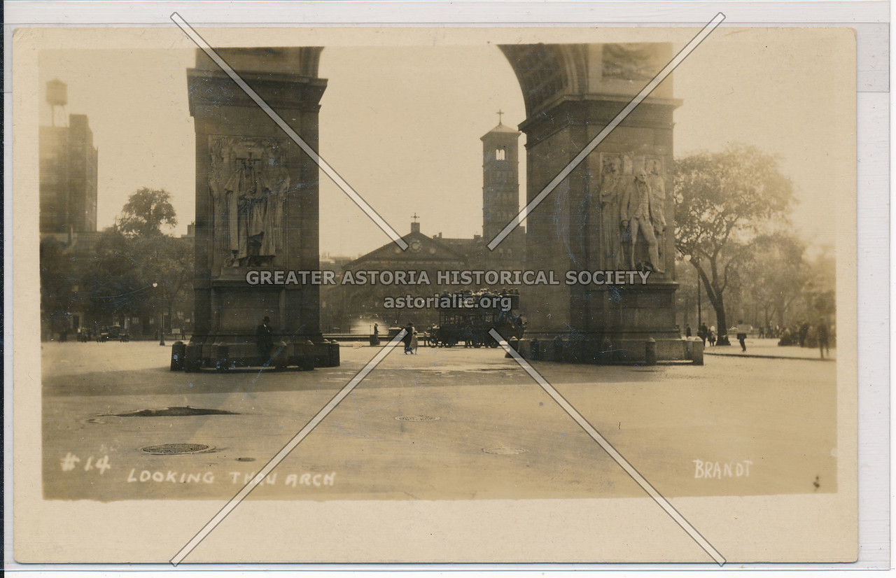 Looking Through Washington Arch, NYC